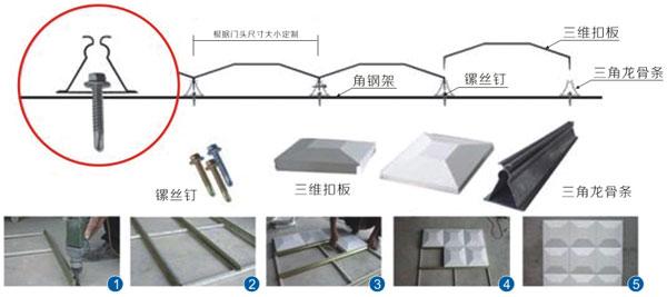 头招牌安装案例——三维彩扣板+铝塑板+LED亚克力双面发光字安装工程 安装技术 第4张